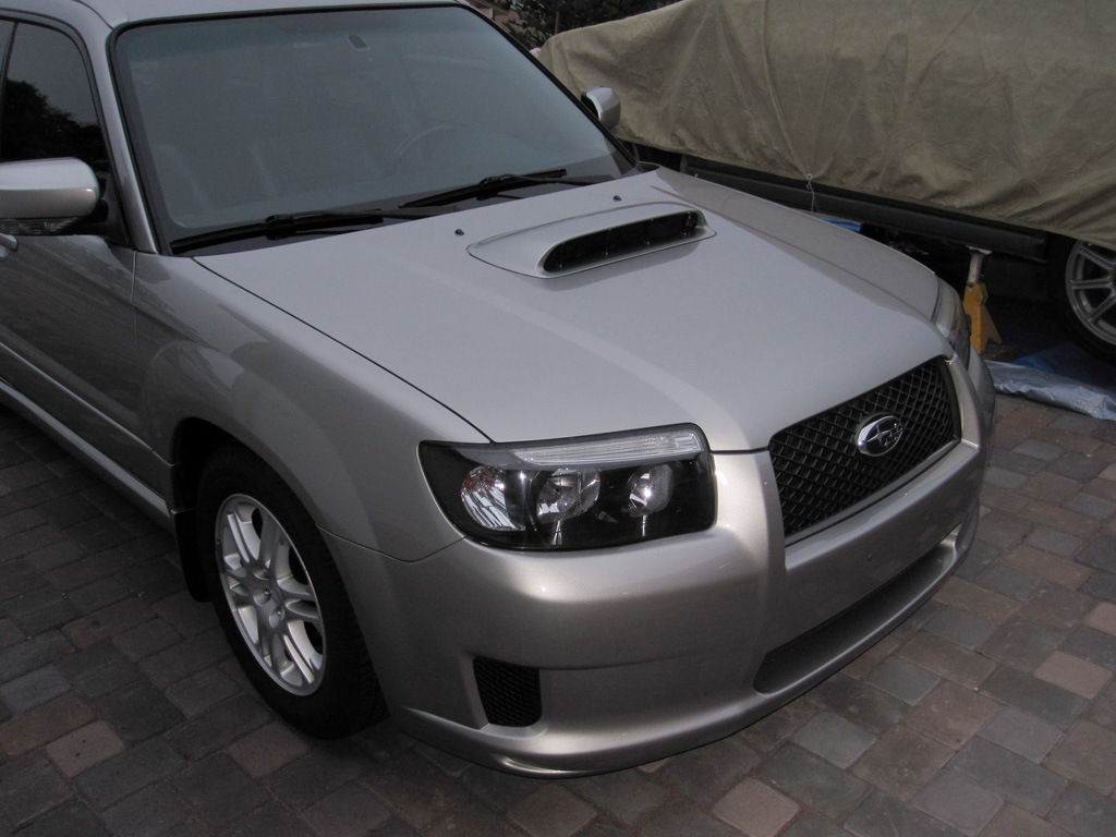 Sports grill emblem removal how to and pics subaru forester i decided to clear my headlights since i had the bumper off to do the sports swap here are the results vanachro Images